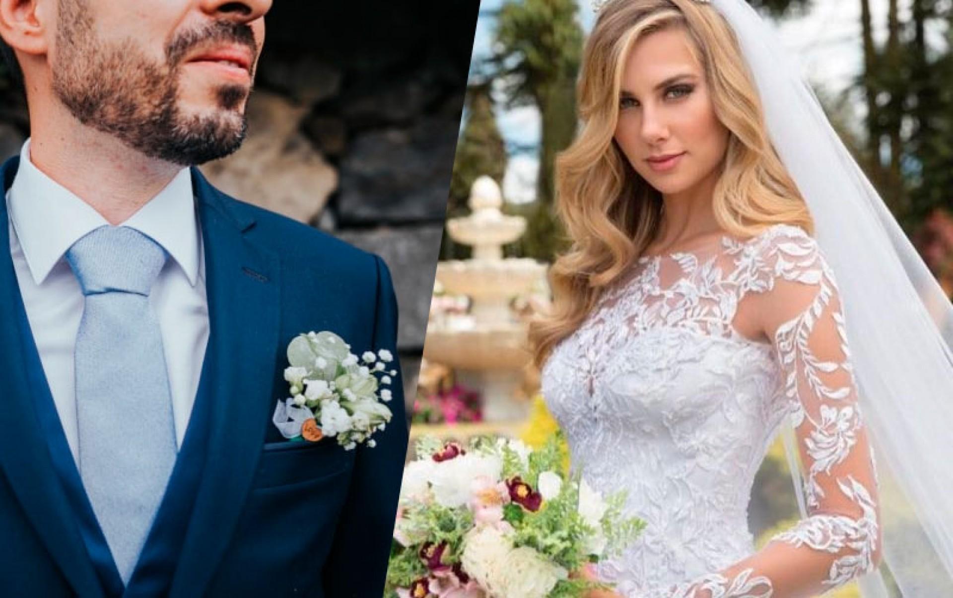 O Clássico: Vestidos de noiva com renda e lapela do noivo