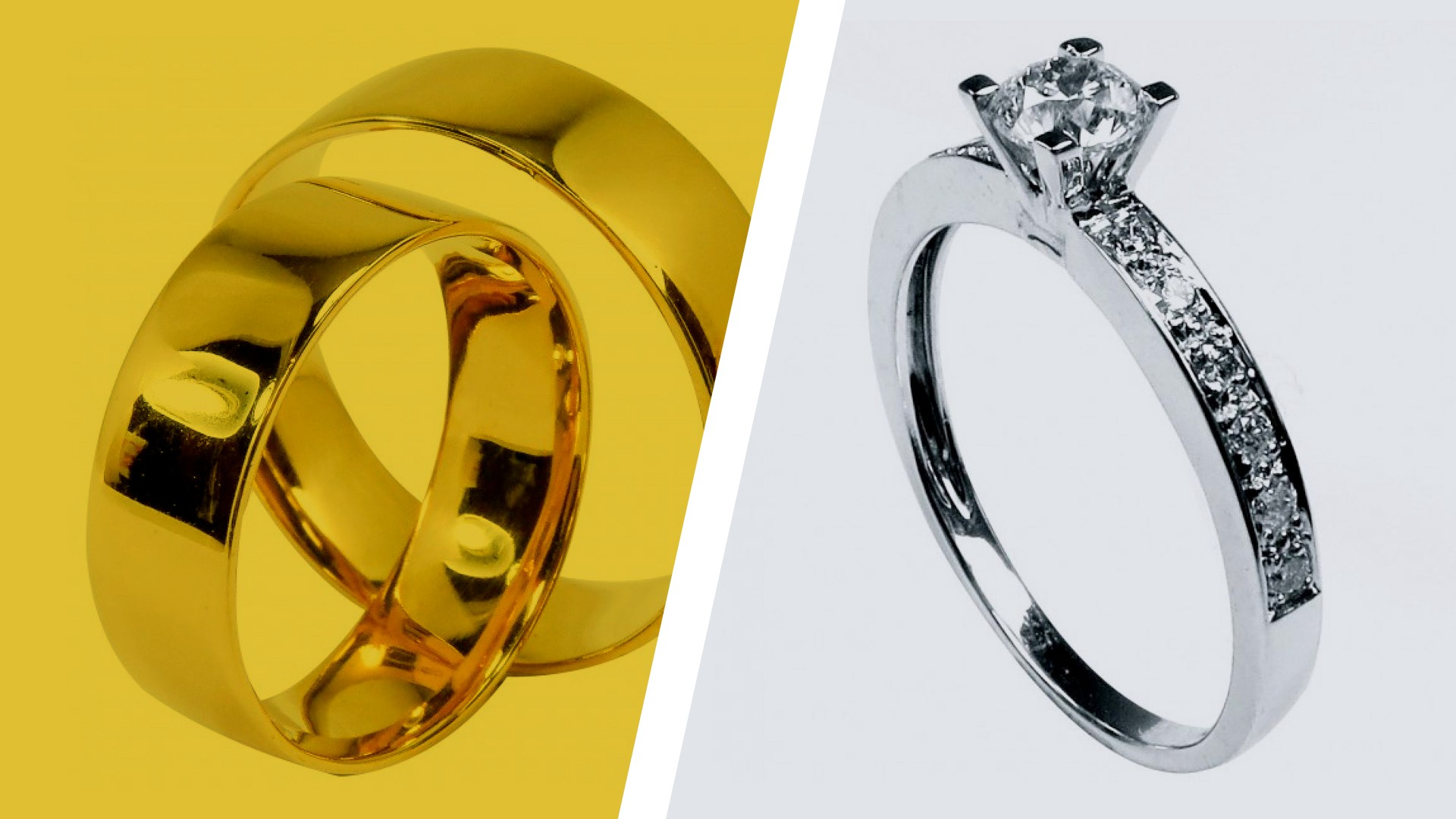 A diferença entre um anel de noivado e uma aliança de casamento!