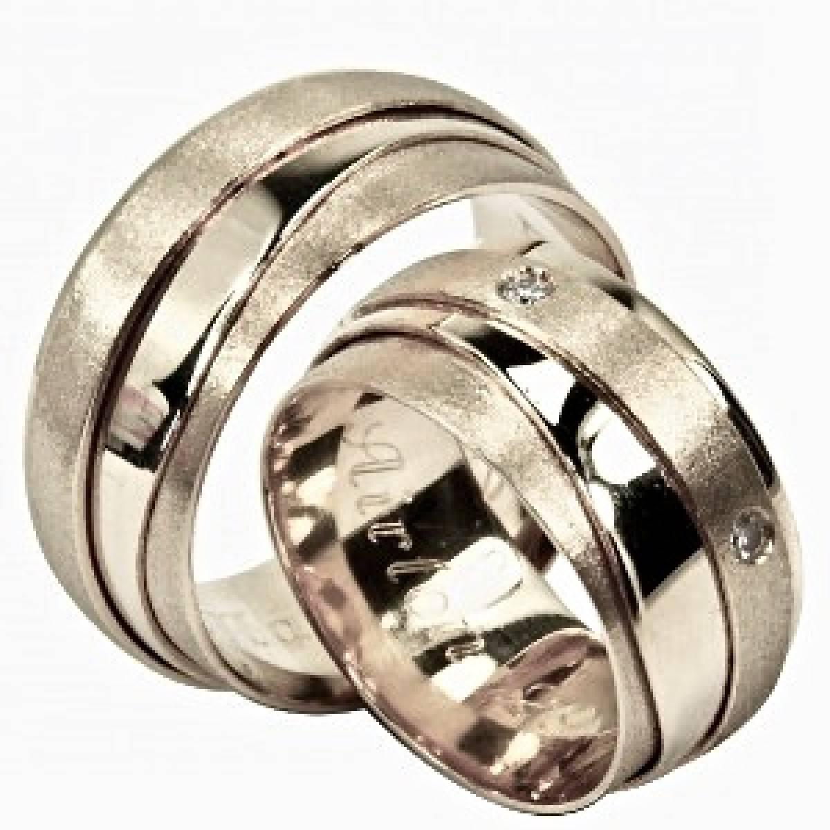 Alianças de Casamento em ouro amarelo com diamantes ou zircónias
