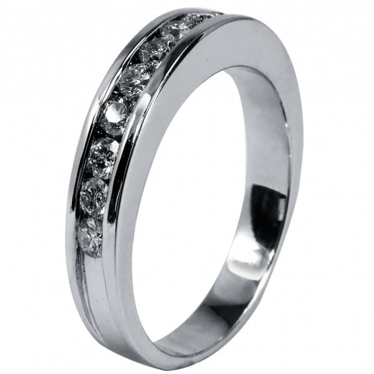 Anel de Noivado em Ouro Branco com diamantes ou zircónias