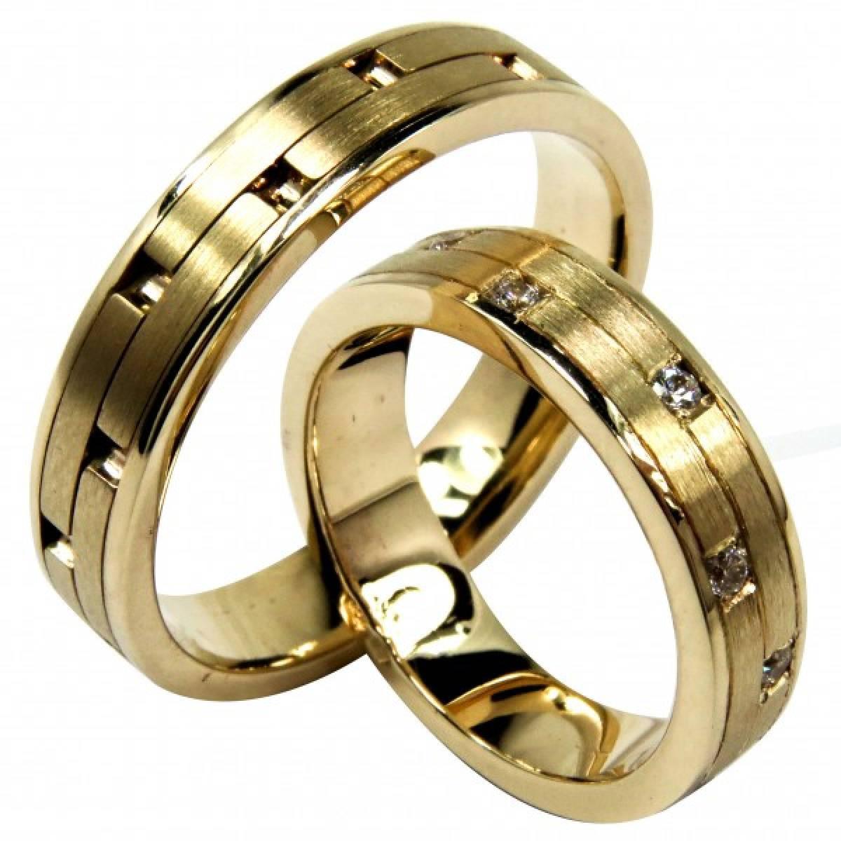 Alianças de Casamento em ouro com Diamantes ou zircónias