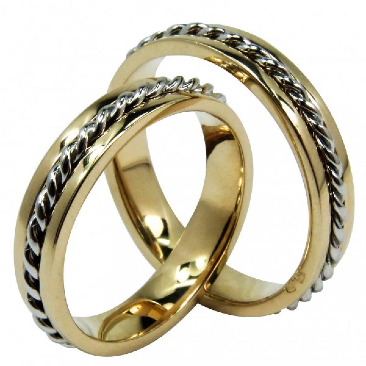 Alianças de Casamento em ouro Bicolores