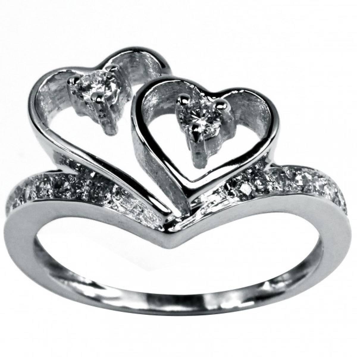 Anel de Noivado com diamantes ou zircónias, em ouro de 9 ou 19,2 kts