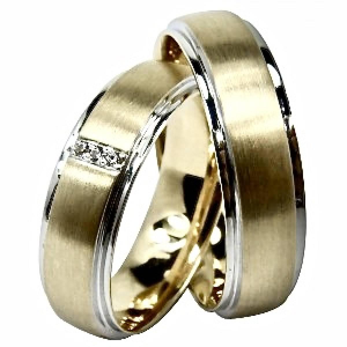 Alianças de Casamento ouro de 9 e 19 kts com diamantes ou zircónias