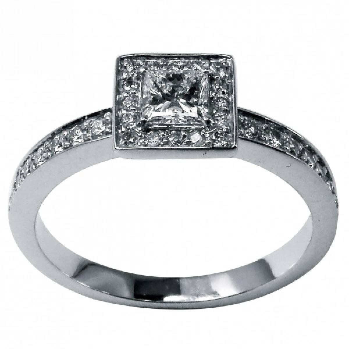 "Anel de Noivado ""PESARUM"" c/ diamantes ou zircónias, ouro de 19,2 kts"