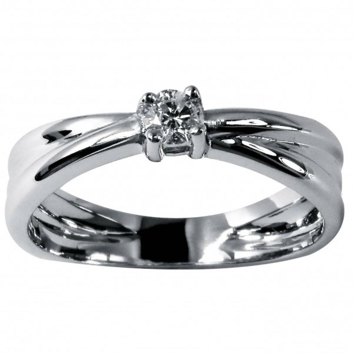 Anel de Noivado com diamante ou zircónia em ouro de 9 e 19 kts
