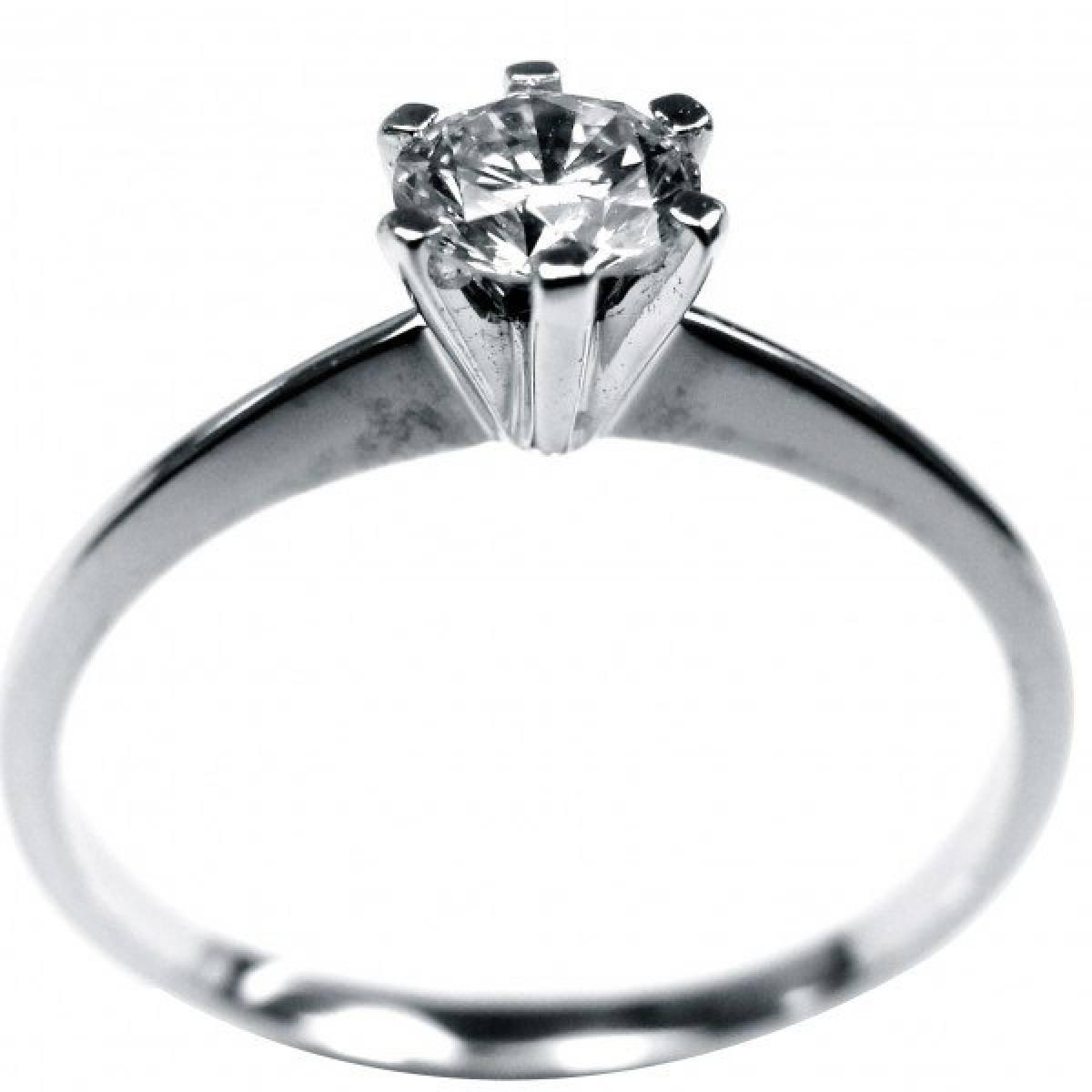 """Anel de Noivado """"Solitário"""" com diamante ou zircónia, ouro de 9 e 19 kts"""