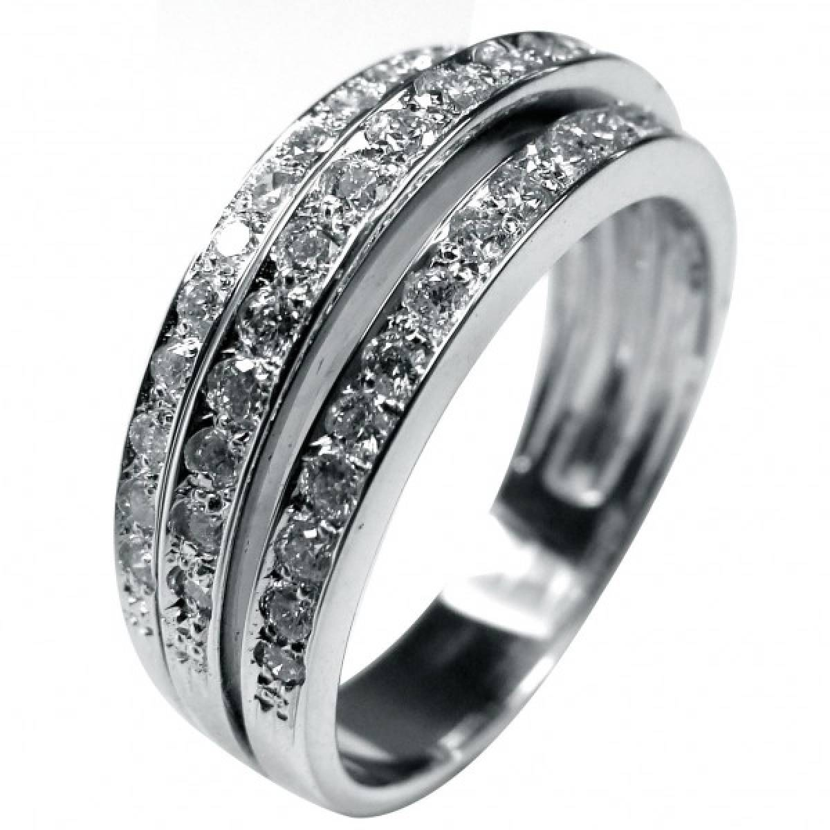 Anel de Noivado ouro branco de 19 kts, com diamantes ou zircónias