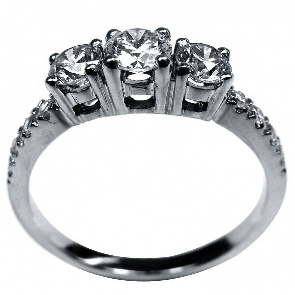 Anel de Noivado com diamantes ou zircónias em ouro de 9 e 19,2 kts