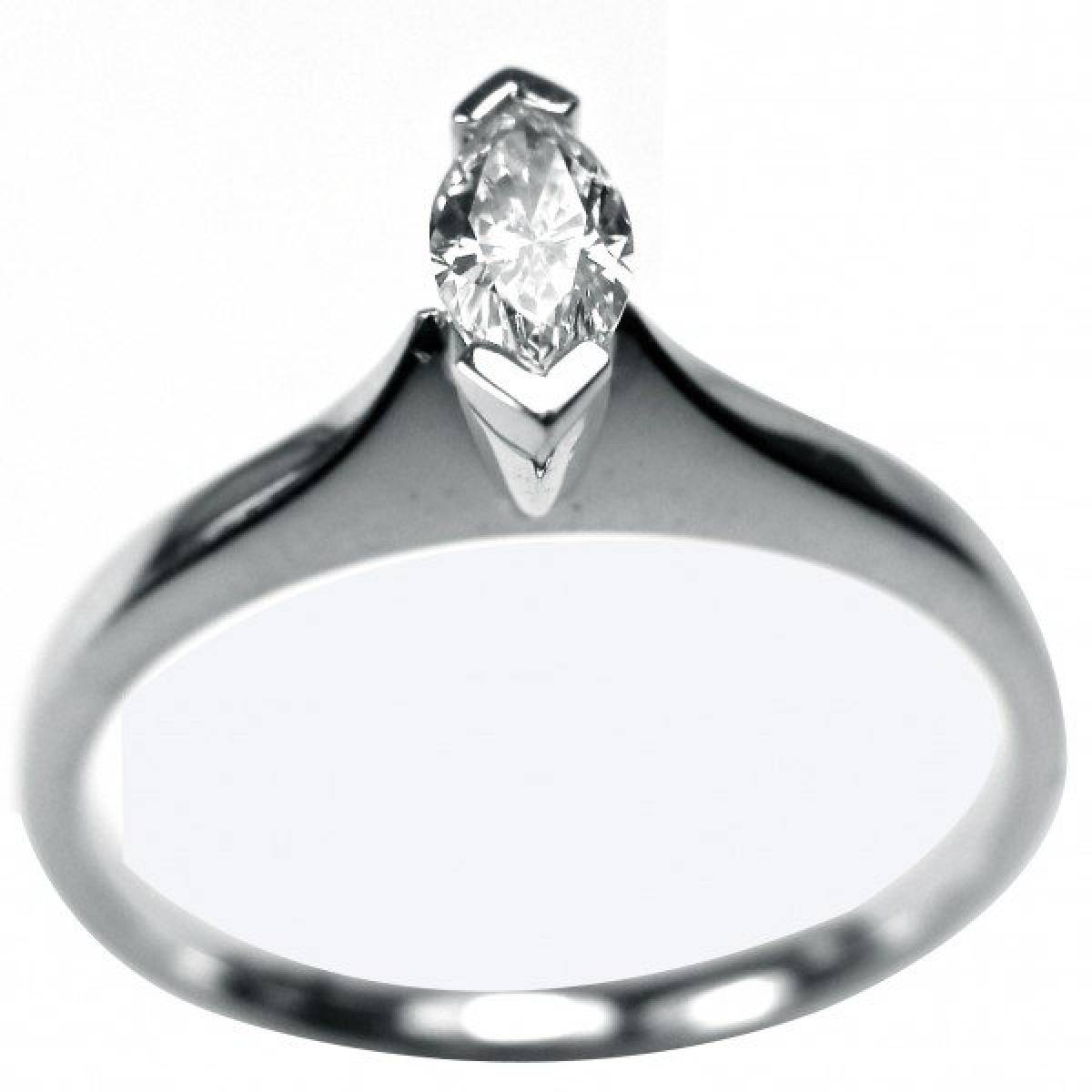 Anel de Noivado em ouro de 19 kts, com 1 diamante de 0,26 cts