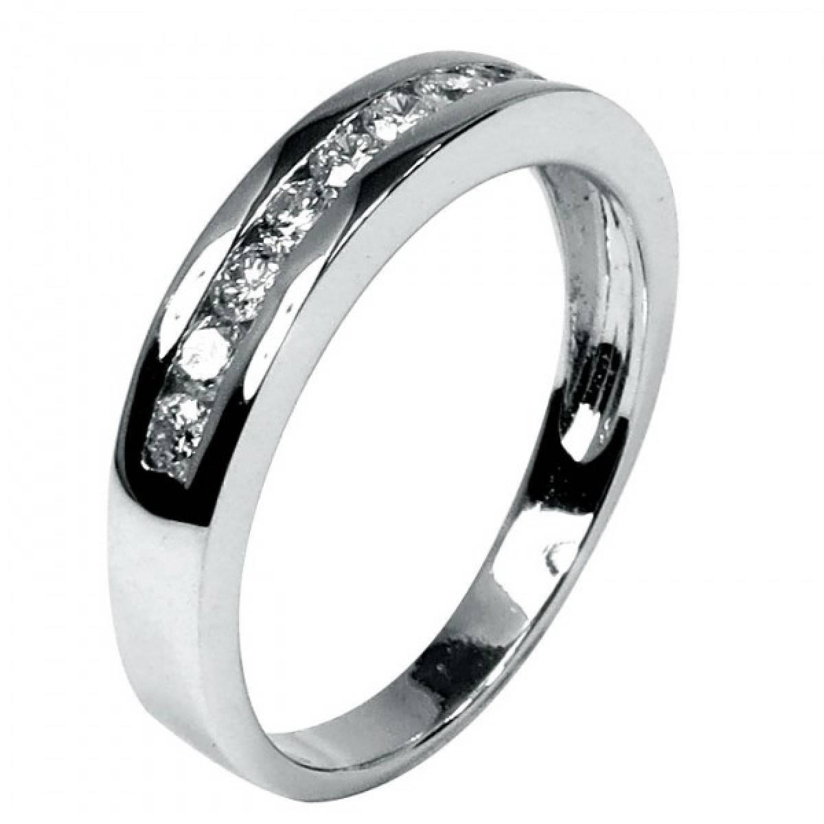 """Anel de Noivado """"PESARUM"""" em ouro branco de 19 kts com diamantes"""