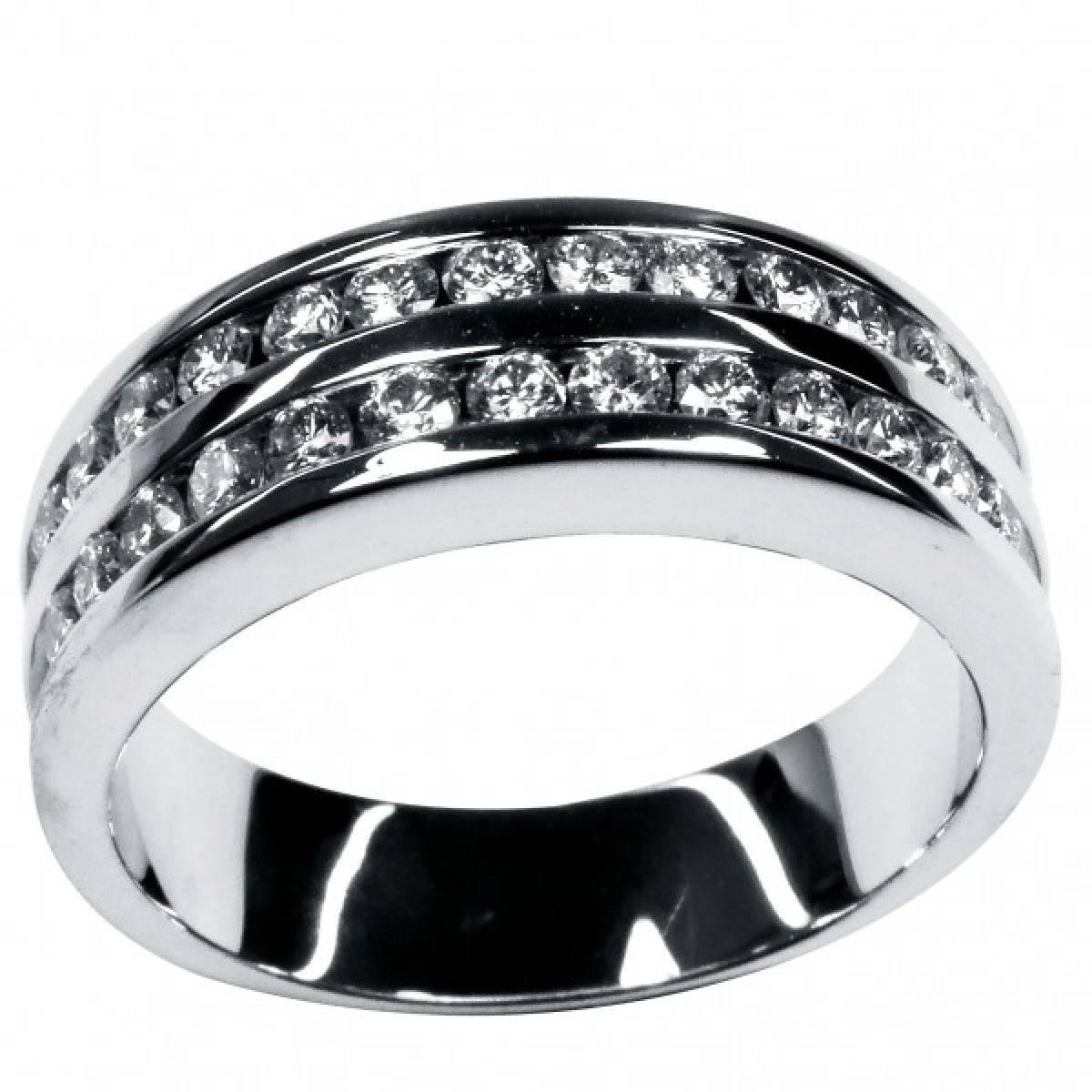 """Anel de Noivado """"PESARUM"""" em ouro branco de 19 kts com diamantes ou safiras"""
