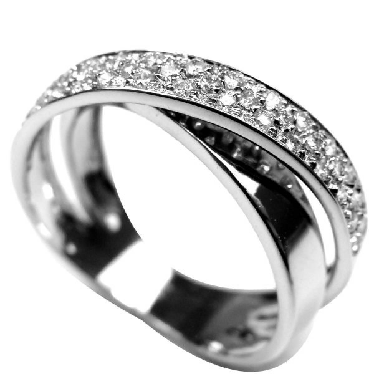 """Anel de Noivado """"PESARUM"""" Ouro Branco de 19,2 kts, com Diamantes ou Zircónias"""
