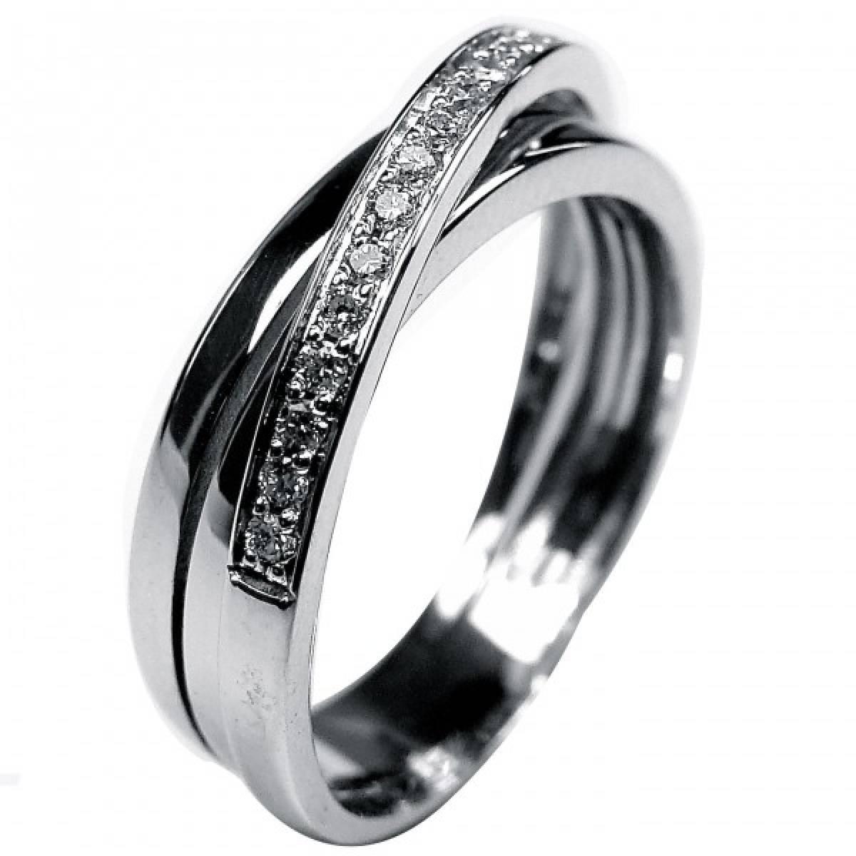 Anel de Noivado com diamantes ou zircónias em ouro de 19,2 kts