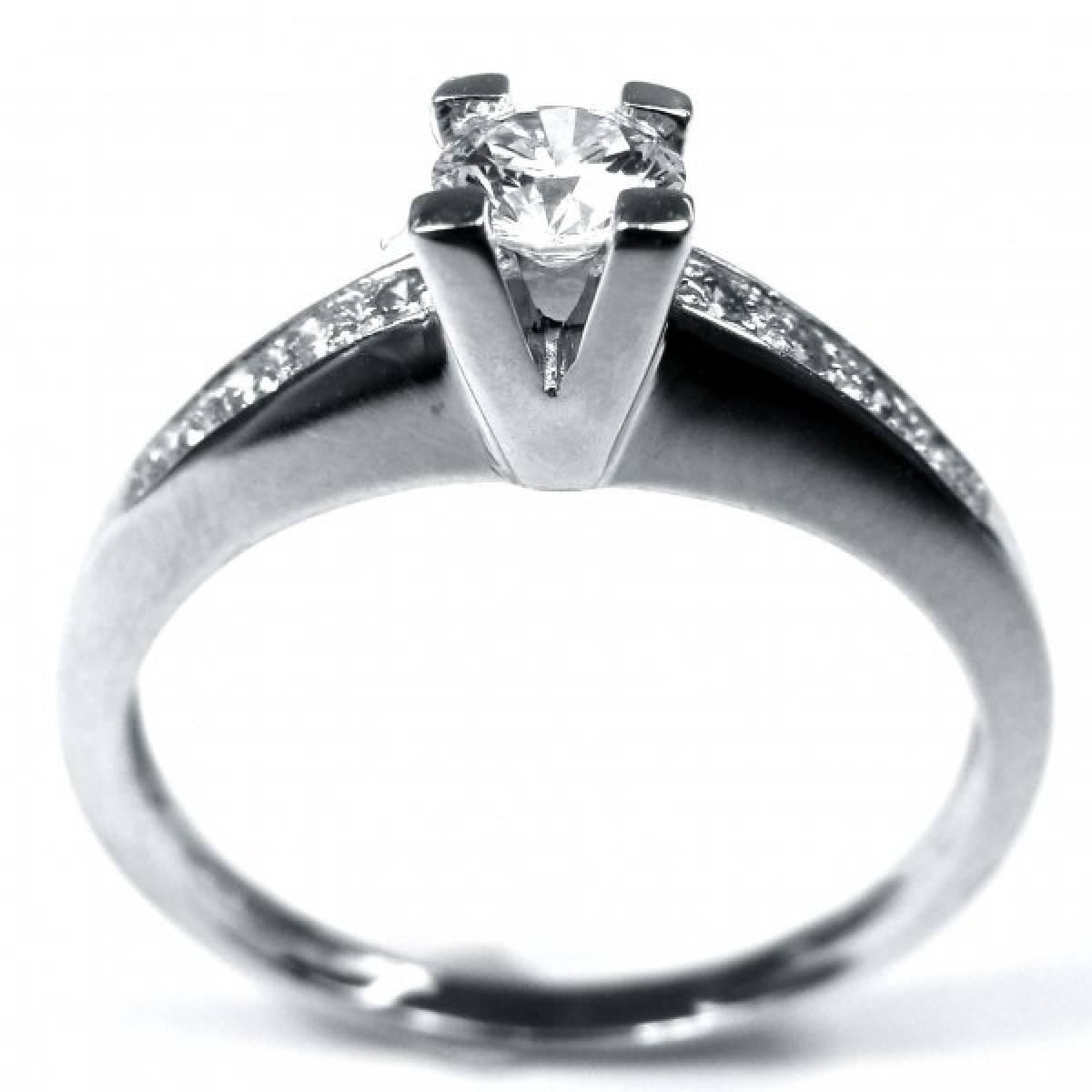 """Anel de Noivado """"PESARUM"""" em ouro de 9 e 19kts, com diamantes ou zircónias"""