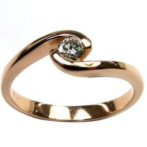 """Anel de Noivado """"PESARUM"""" ouro amarelo, rosa ou branco com 1 diamante"""