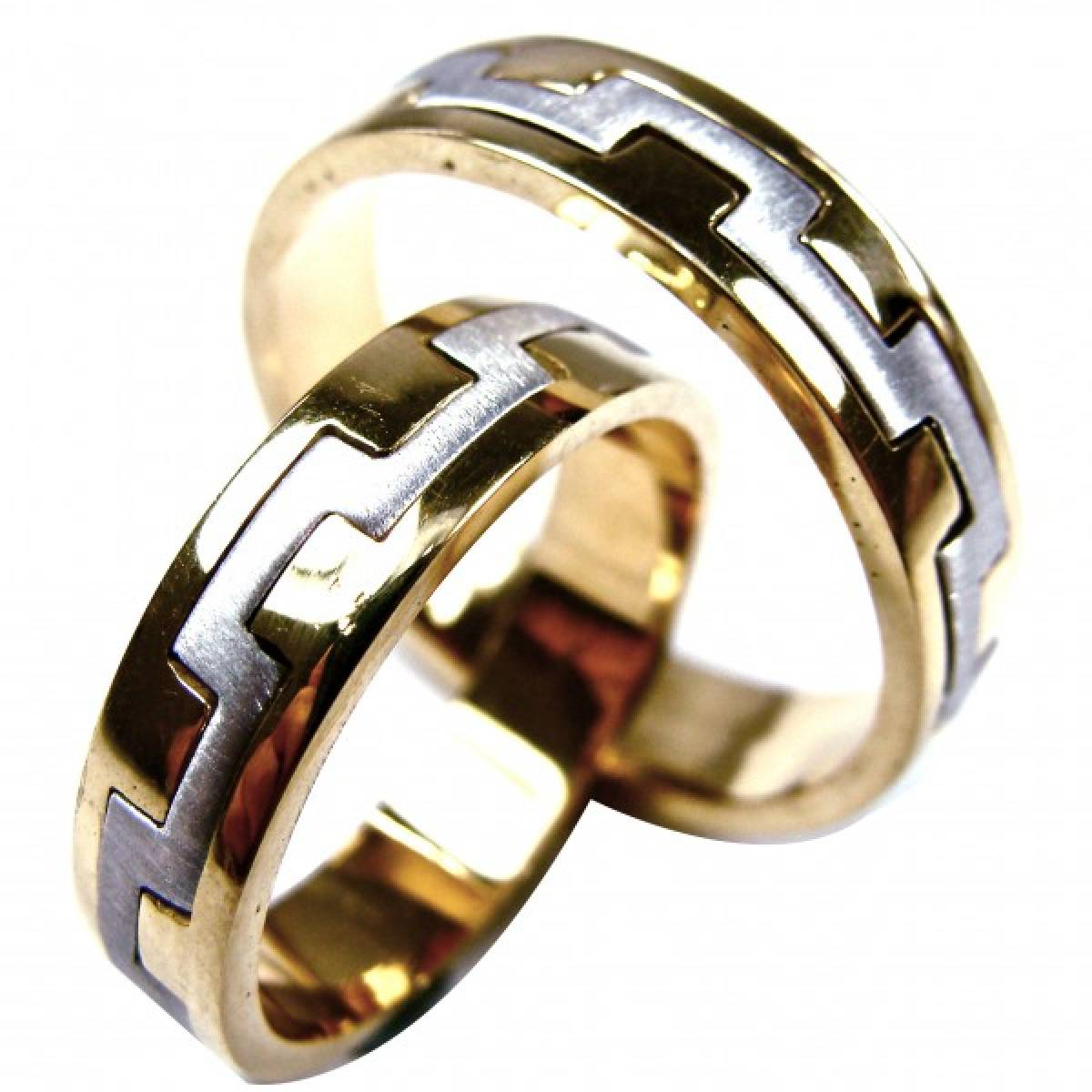 Alianças de Casamento bicolores em ouro de 9 e 19 kts