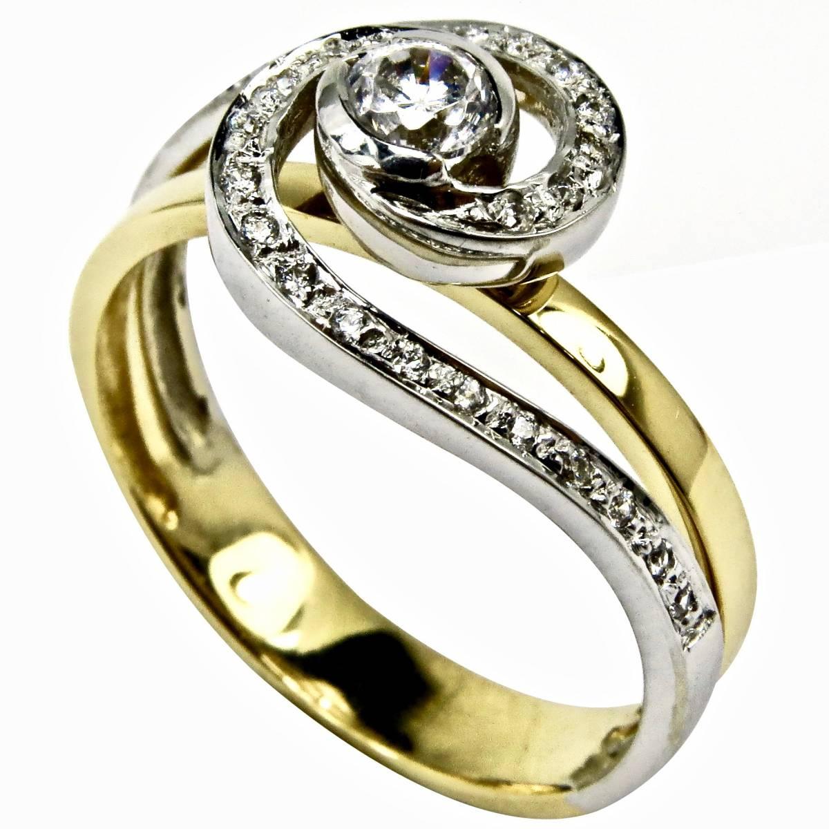 """Anel de Noivado """"PESARUM"""" em ouro, com diamantes ou zircónias"""