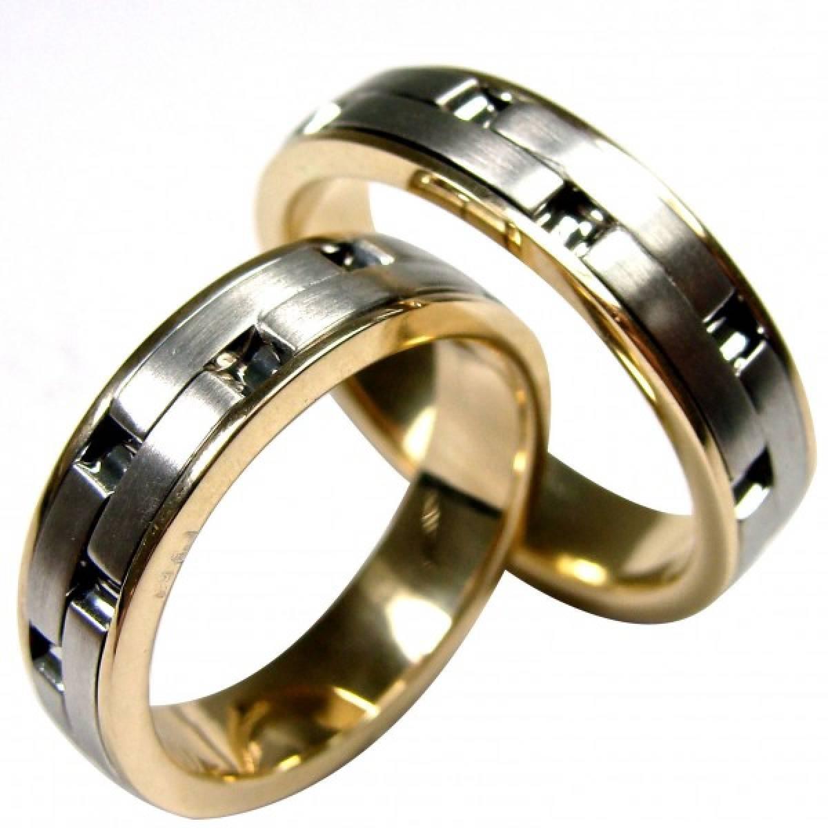 Alianças de Casamento bicolores em ouro de 9 e 19,2 kts
