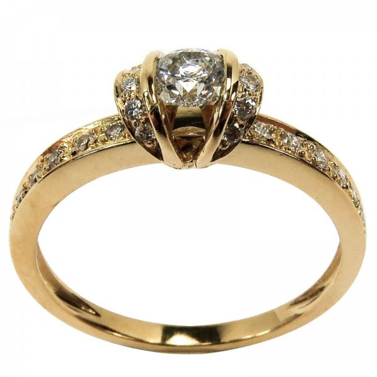 """Anel de Noivado """"PESARUM"""" em ouro de 19,2 kts, com diamantes"""