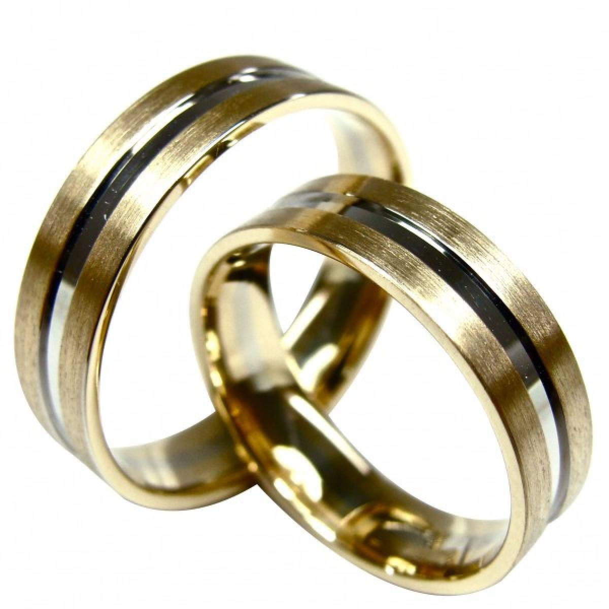 Alianças de Casamento em Ouro Amarelo e Branco de 9 e 19,2 kts