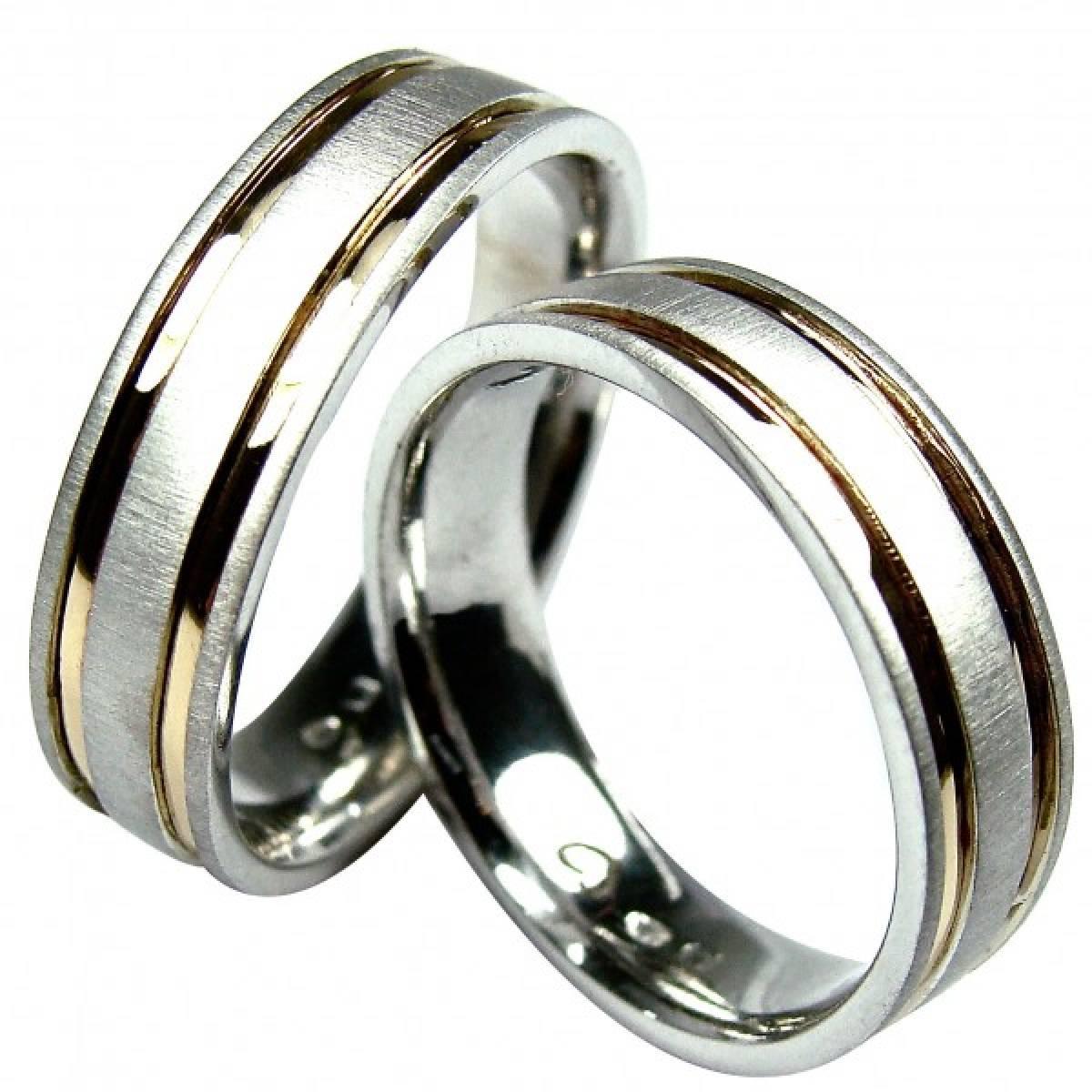 Alianças de Casamento em Ouro Bicolor de 9 e 19,2 kts