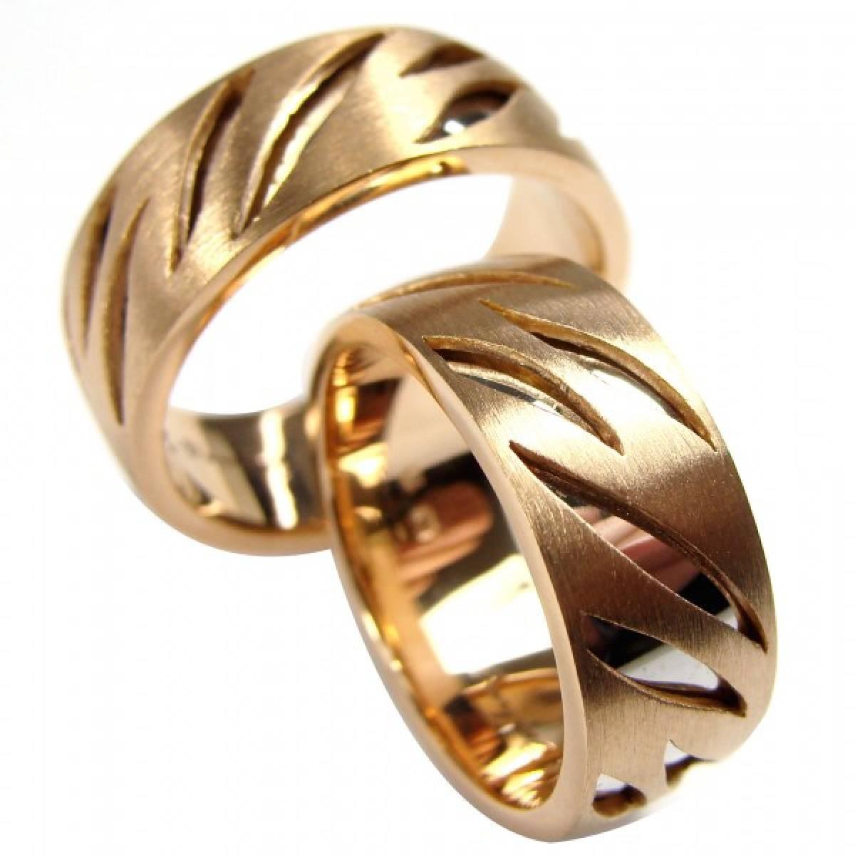Alianças de Casamento foscadas em ouro de 9 e 19 kts