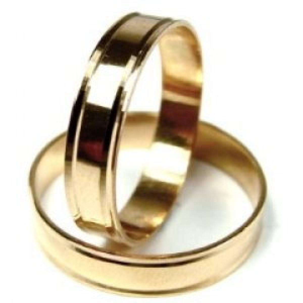 Alianças de Casamento em Ouro Amarelo de 9 e 19Kts