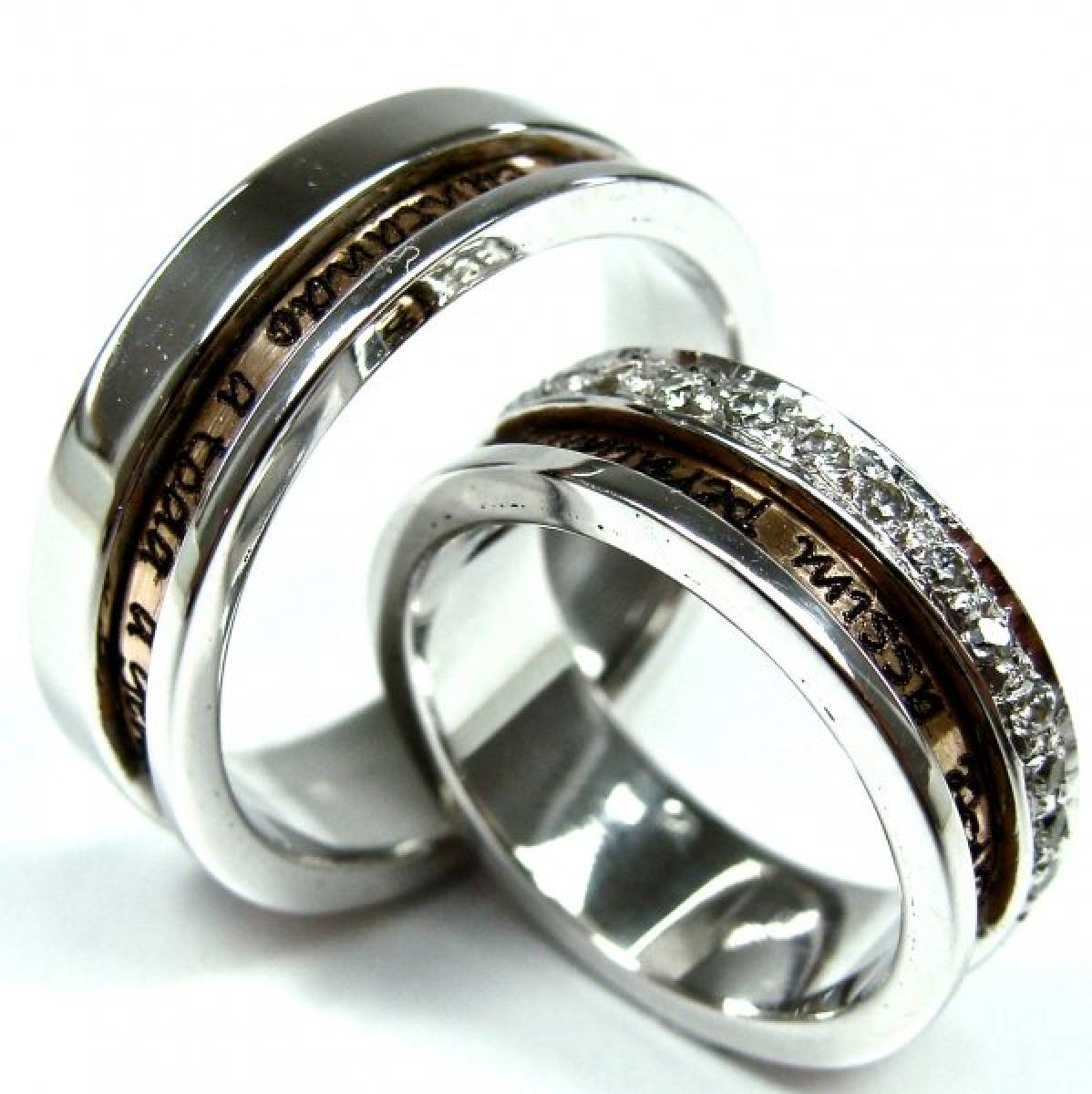 Alianças de Casamento em Ouro Bicolor