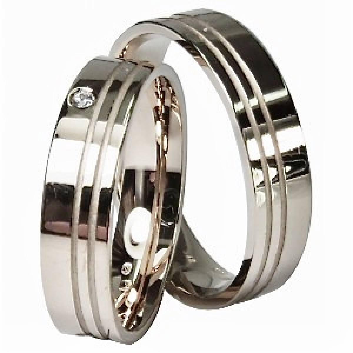 Alianças Casamento ouro Rosa, de 9 e 19 Kts com Diamante ou Zircónia