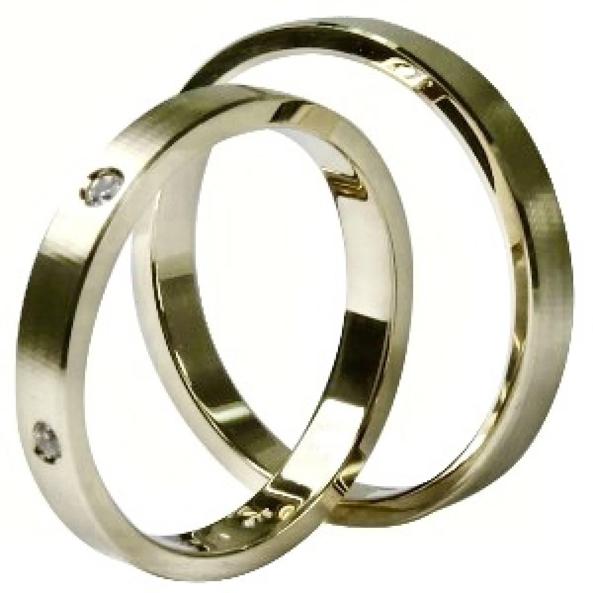 Alianças de Casamento Ouro Rosa, de 9 e 19 Kt, com Diamantes ou Zircónias