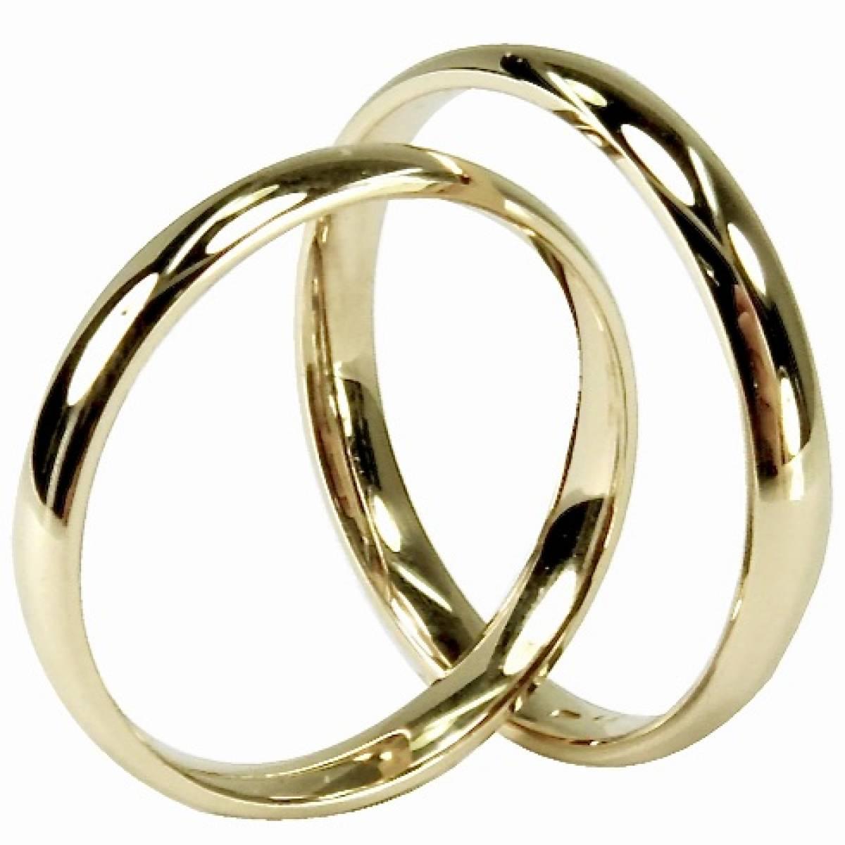 Alianças de Casamento Ouro Rosa Branco e Amarelo de 9 e 19,2 Kts