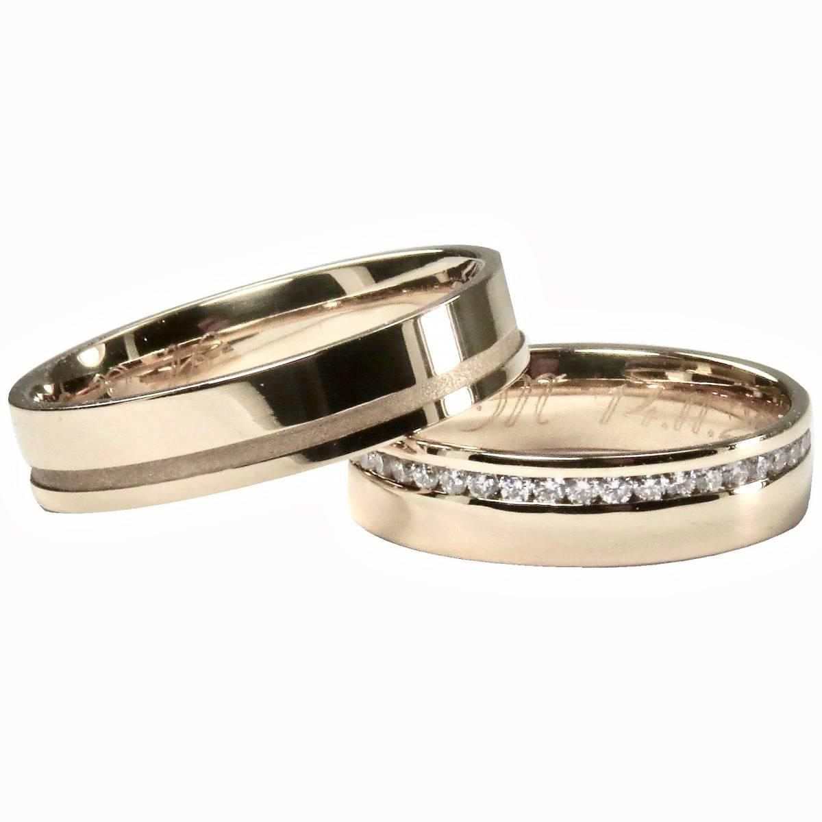Alianças de Casamento Ouro Rosa Branco ou Amarelo de 9 e 19,2 Kts