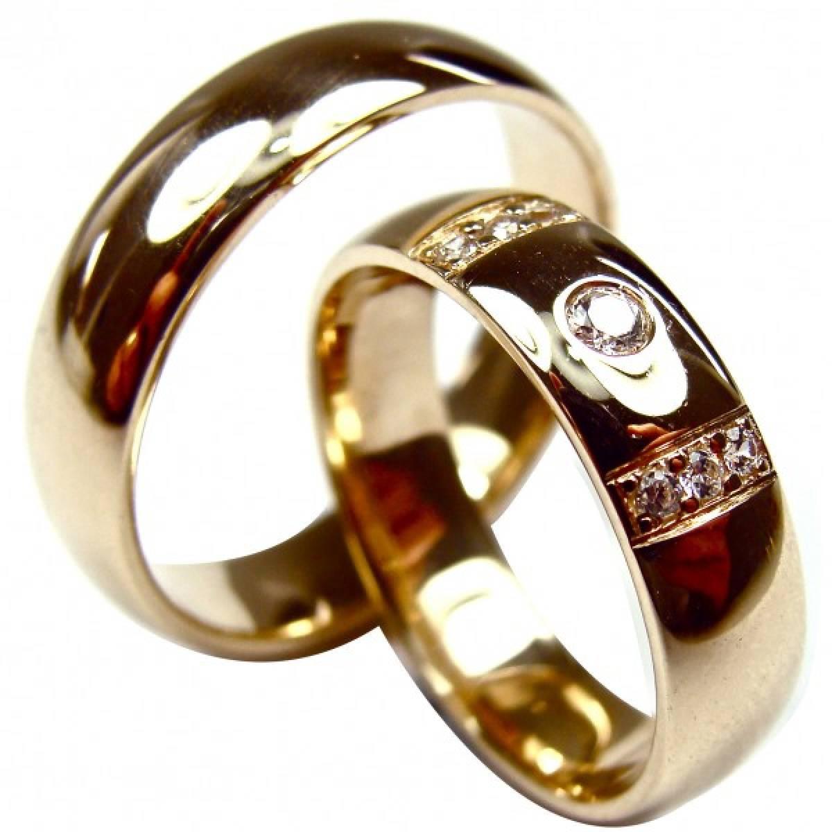 Alianças de Casamento ouro com diamantes ou zircónias