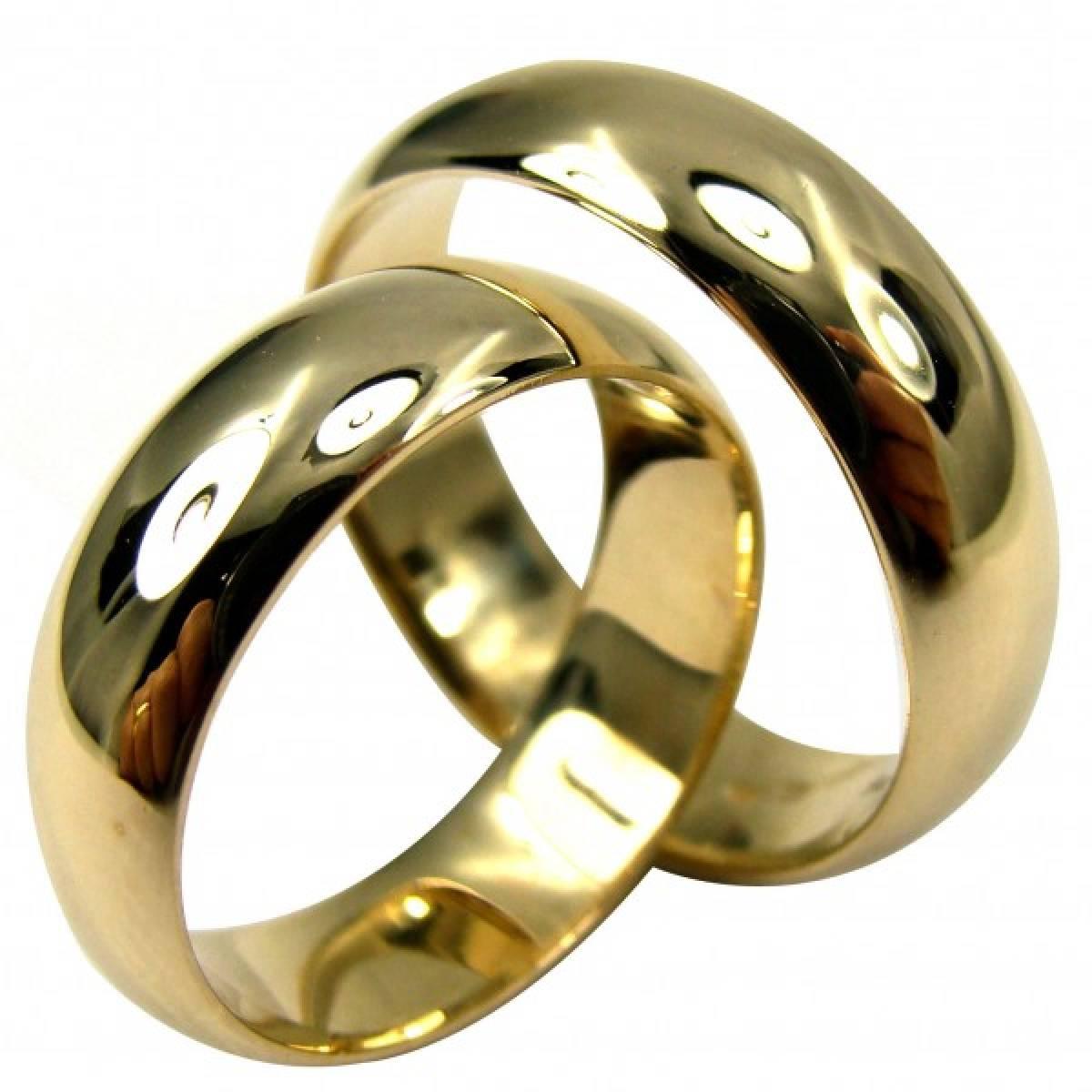Alianças de Casamento tradicionais em ouro amarelo de 9 e 19,2 kts